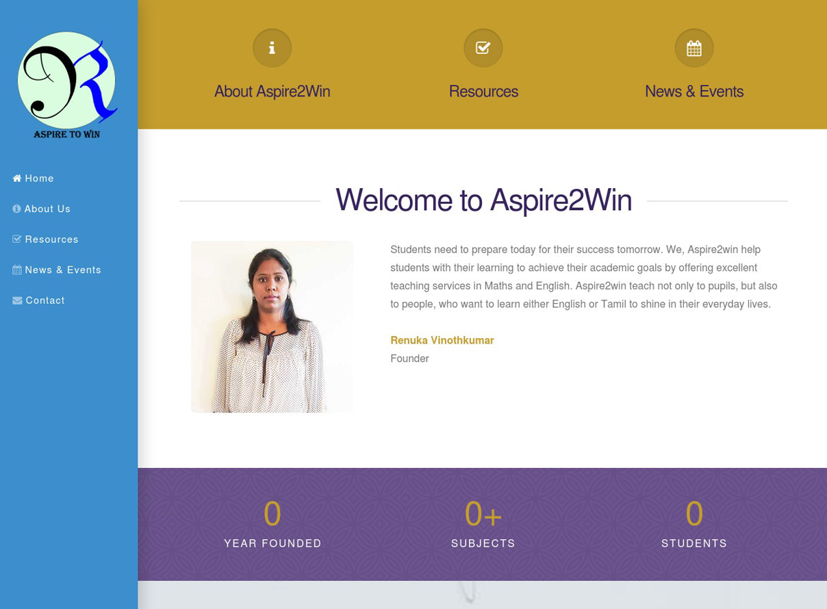 Aspire2Win Services website link
