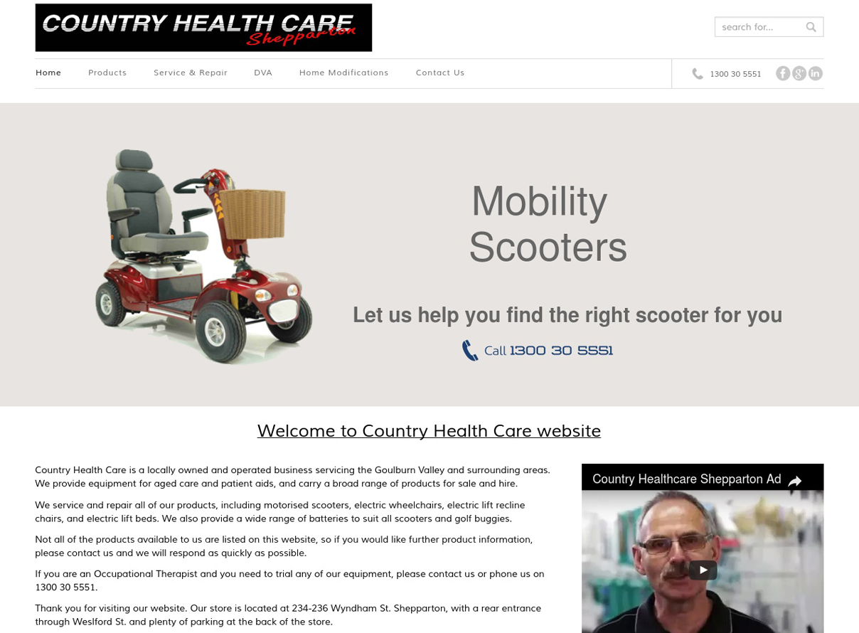 Country Healthcare Shepparton website