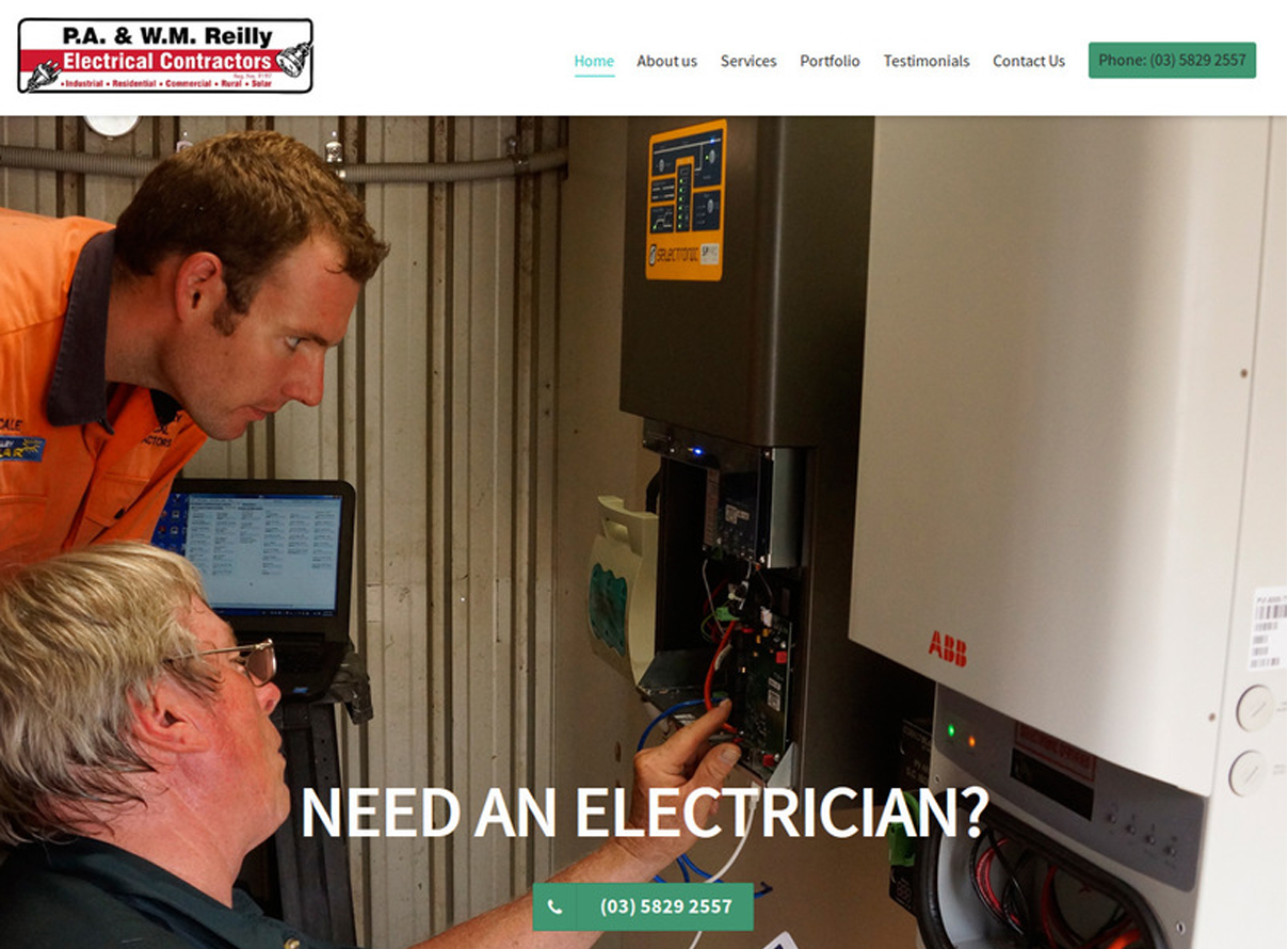Reilly Electrical screenshot