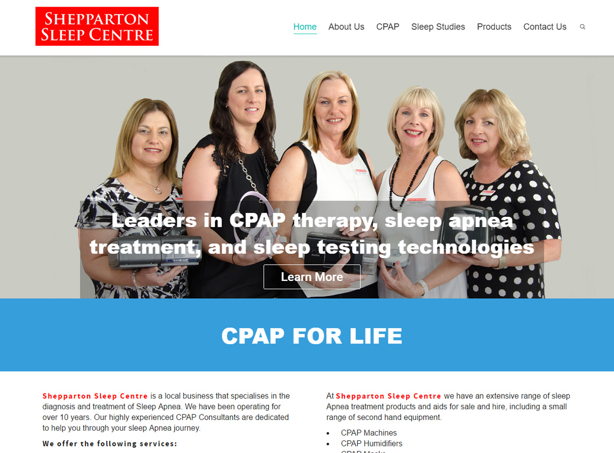 Shepparton Sleep Centre website