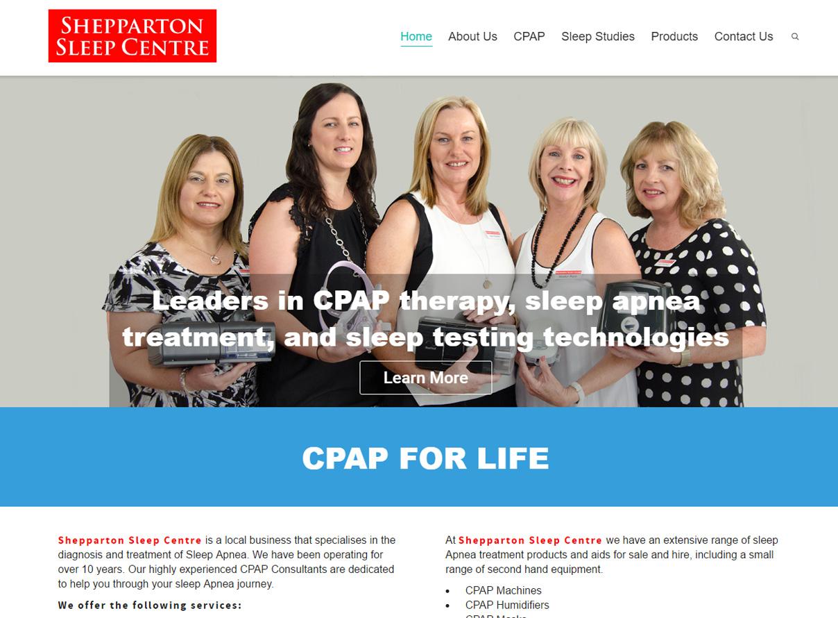 Shepparton Sleep Centre website